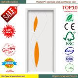 Conception en verre en bois de porte de modèle classique des prix de Wholessale