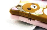 SamsungギャラクシーJ5 J7 P8 P9 (XSDW-001)のための漫画の恋人のRilakkumaボタンのシリコーンの電話箱