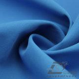 Agua y de la ropa de deportes tela rayada tejida chaqueta al aire libre Viento-Resistente 100% de la pongis del poliester del telar jacquar abajo (E182)