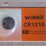 Batteria Cr1616 delle cellule del tasto del litio