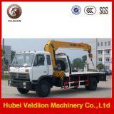 De Vrachtwagen van Wrecker van het Slepen van Dongfeng met Kraan 8 Ton