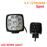 27W Square Spot/Flood Beam LED Work Light