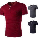 Teeshirts mous d'hommes de bouton de constructeurs de vêtement