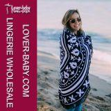 Полотенце гобелена Roundie пляжа Blanket с краем Tassel (L38356)