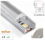 Vertieftes Aluminium-LED-Profil mit Objektiv: 60degrees für LED-Streifen-Licht 13.4*17.1mm