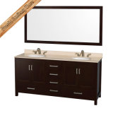 Fed-1913 Floor - eingehangenes Solid Wood Bathroom Cabinet