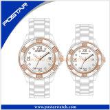 カップルの恋人の腕時計のための方法簡単で、標準的な陶磁器の腕時計