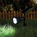 태양 에너지 스포트라이트 옥외 스파이크 정원 잔디밭 빛 4 LED 방수 안전 램프 조경 빛