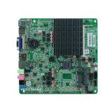 Carte mère encastrée par Itx mince sans ventilateur USB3.0 de faisceau de quarte de Celeron J1900 de journal de compartiment mini