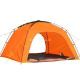 De enige Tent van de Laag, Oranje het Kamperen van 4 Persoon Tent