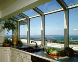 Vidrio de desplazamiento vertical de aluminio del polvo popular Windows
