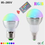 Lampe à télécommande magique d'ampoule des couleurs E27 E14 DEL RVB des vacances RVB Lighting+IR de Dimmable de lumière d'endroit d'AC110V 220V 5W DEL RVB 16