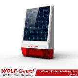 Sirene solar ao ar livre com 433MHz ao ar livre com flash