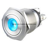 Interruptor 19mm Terminal de tornillo de metal con pulsador
