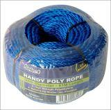 Matériel 3mm*61m du bleu DIY de mini enroulement de corde poly