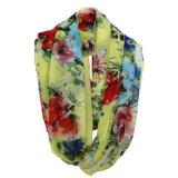 Шарф безграничности весны полиэфира способа женщины напечатанный цветком шифоновый (YKY1104)