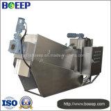 Dispositivo de desecación del lodo en el tratamiento de aguas residuales de la fabricación de papel