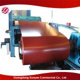 Structuur die van het staal PPGI bouwen verfte de Gegalvaniseerde Rol PPGL/PPGI van het Staal vooraf