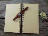 Qualitäts-attraktive elastisches Band-Masse-gewundenes Notizbuch