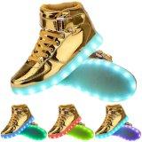 USB unisex que carga los zapatos de las luces de los colores del LED 7