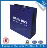 Голубым напечатанная цветом хозяйственная сумка бумаги высокого качества
