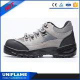 Chaussures de sûreté supérieures d'entraîneurs de coupure de cuir inférieur de suède UfB022