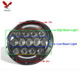 78W 4D optique pour le phare de pouce DEL du Wrangler 7 de jeep avec l'oeil d'ange