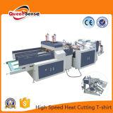 China, dos líneas de corte en caliente de la camiseta de alta velocidad de la máquina de fabricación de bolsas