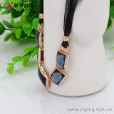 (necklace-00030) Fashion Gold-Plated Rhinestone Women Jewelry Necklace in Copper Alloy