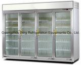 Porta comercial de vidro Supermercado Display Refrigerador para frutas e vegetais