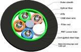 24 Kern angeschwemmte metallische GYTS Antenne u. Kanal-im Freien aus optischen Fasernkabel