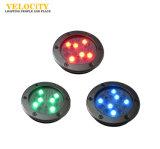 RGB 최고 질 스테인리스 LED 수중 샘 빛