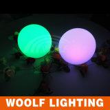 16 colores de plástico decoración de bolas de luz para la boda