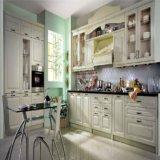 Mobília francesa da cozinha da madeira de carvalho branco do estilo