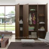 Portes en bois de 4 portes indépendantes Garde-robe de chambre Meubles de placard (HF-WS023)