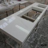 Bancada de superfície contínua de mármore por atacado da cozinha de Corian (C1610182)