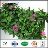 Venta Anti-ULTRAVIOLETA de la pared de la flor artificial de la planta de la falsificación de la belleza de la decoración casera