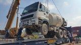 上海6~8cbm/10~20tonの新しペンキの大きさ出荷の日本元エンジンのIsuzuの具体的なミキサーのトラック