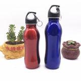 Sport-Getränk-Wasser-Flaschen des Edelstahl-750ml im Freien kampierende mit Carabiner