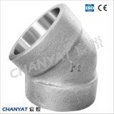 ステンレス鋼はねじで締めた一致の45度の肘A182 (F348H、F321H、F20)を