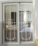 Portello scorrevole di vetro di alluminio 3101