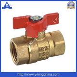 Controle a válvula de esfera de borracha de bronze com jateamento de areia (YD-1009)