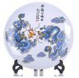 China antigua plato de porcelana de colores