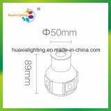 luz do diodo emissor de luz Inground da luz polarizada de aço inoxidável de 1W IP68 com ameia do ABS