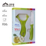 Ceramic Knife + Peeler Set para frutas e vegetais