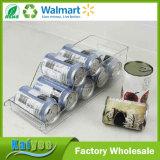 Transparenter Küche-Kühlraum-Getränkesoda-Dosen-Speicher-Organisator-freier Raum