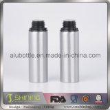 Bottiglia di olio essenziale dell'alluminio con la protezione evidente del compressore bianco