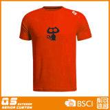 Esportes dos homens que funcionam o t-shirt seco do ajuste