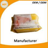 64PCS敏感な皮のきれいな赤ん坊のワイプ