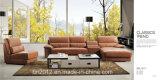 居間の本革のソファー(SBL-9117)
